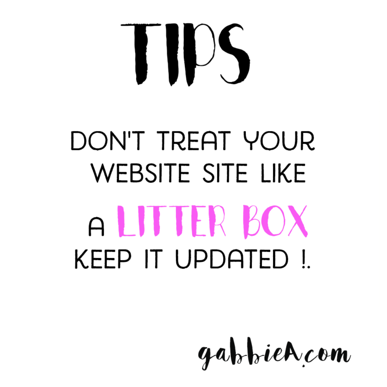 Don't treat your website like a litter box